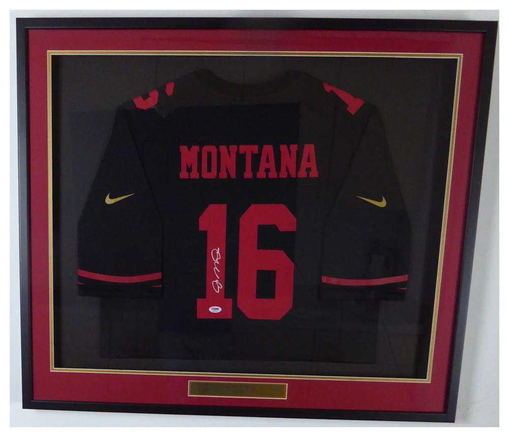 newest 3e9d7 9af3c San Francisco 49ers Joe Montana Autographed Signed Framed ...