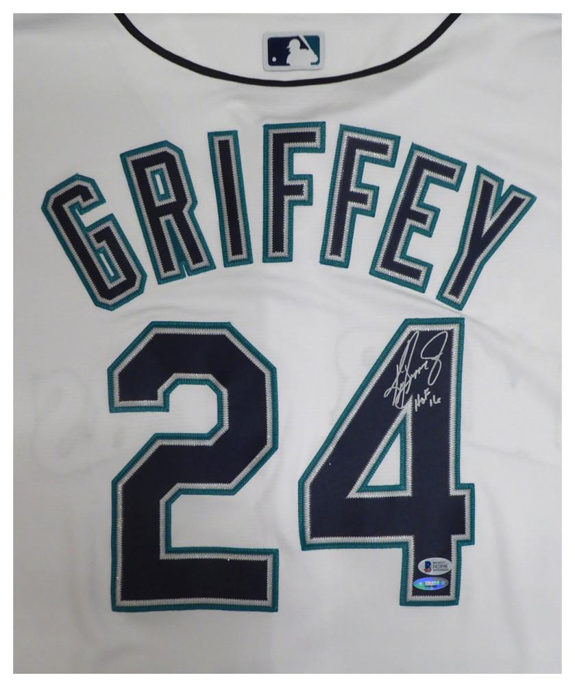 Seattle Mariners Ken Griffey Jr. Autographed Signed White Majestic ... ec9017c17
