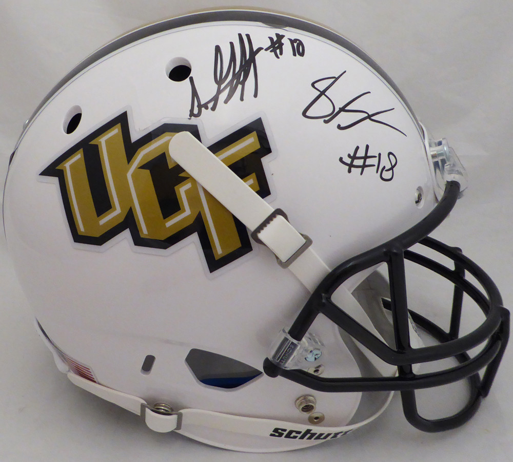 Shaquem   Shaquill Griffin Autographed Signed Auto UCF Golden Knights Full  Size White Replica Helmet - Certified Authentic 7df43d836
