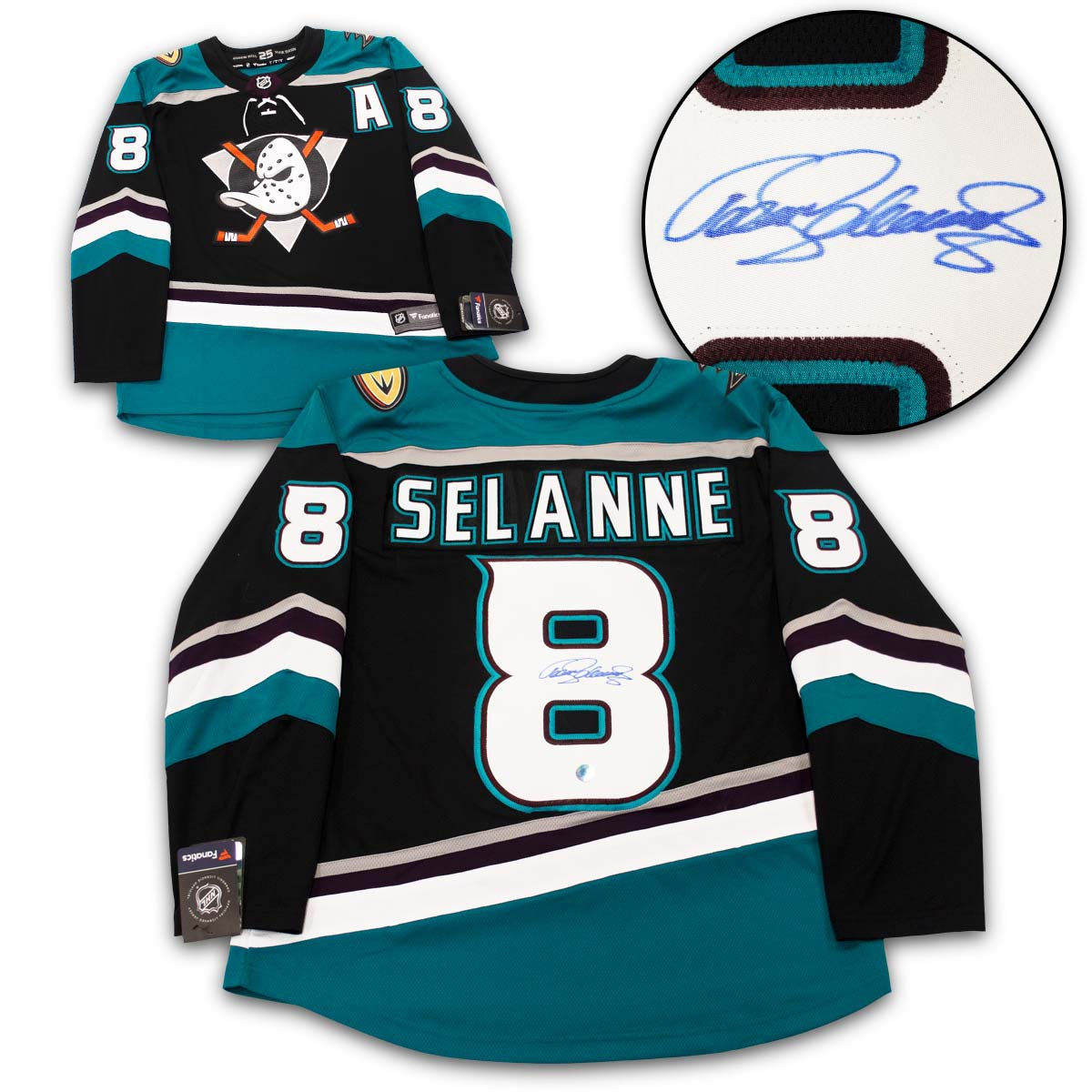 reputable site becc2 32e5e Teemu Selanne Anaheim Ducks Autographed Signed Mighty Ducks ...