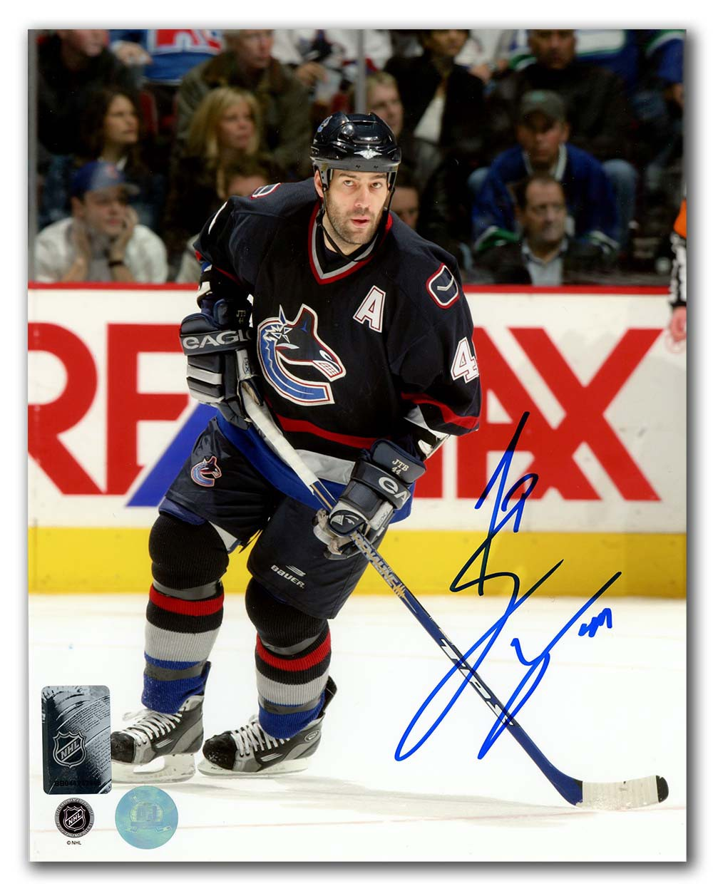 Todd Bertuzzi Vancouver Canucks Autographed Signed Hockey Game ...