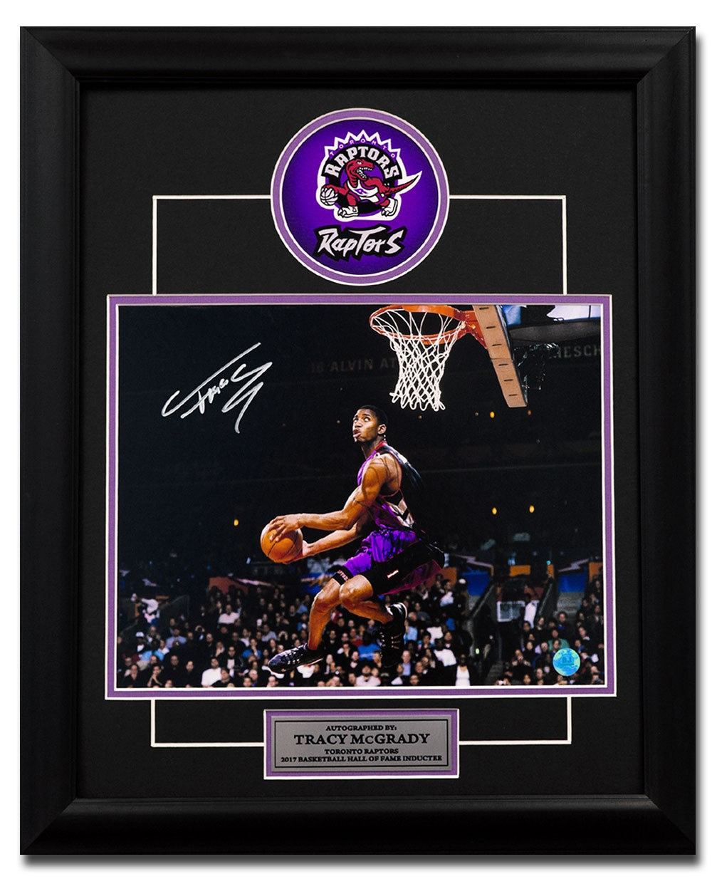 promo code 7864d 1b784 Tracy McGrady Toronto Raptors Autographed Signed Dunk ...