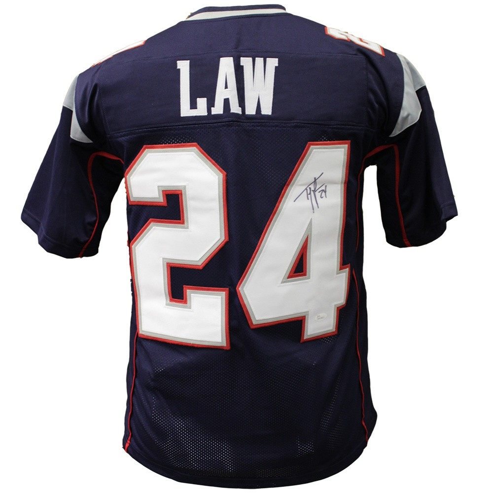 c84495b3 Ty Law New England Patriots Autographed Signed Custom Jersey - JSA ...