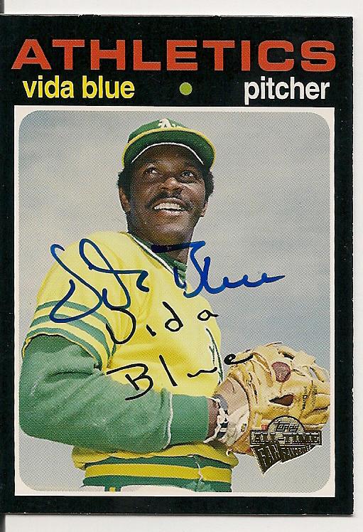 Vida Blue Autographed Signed 2005 Topps Fan Favorites Card