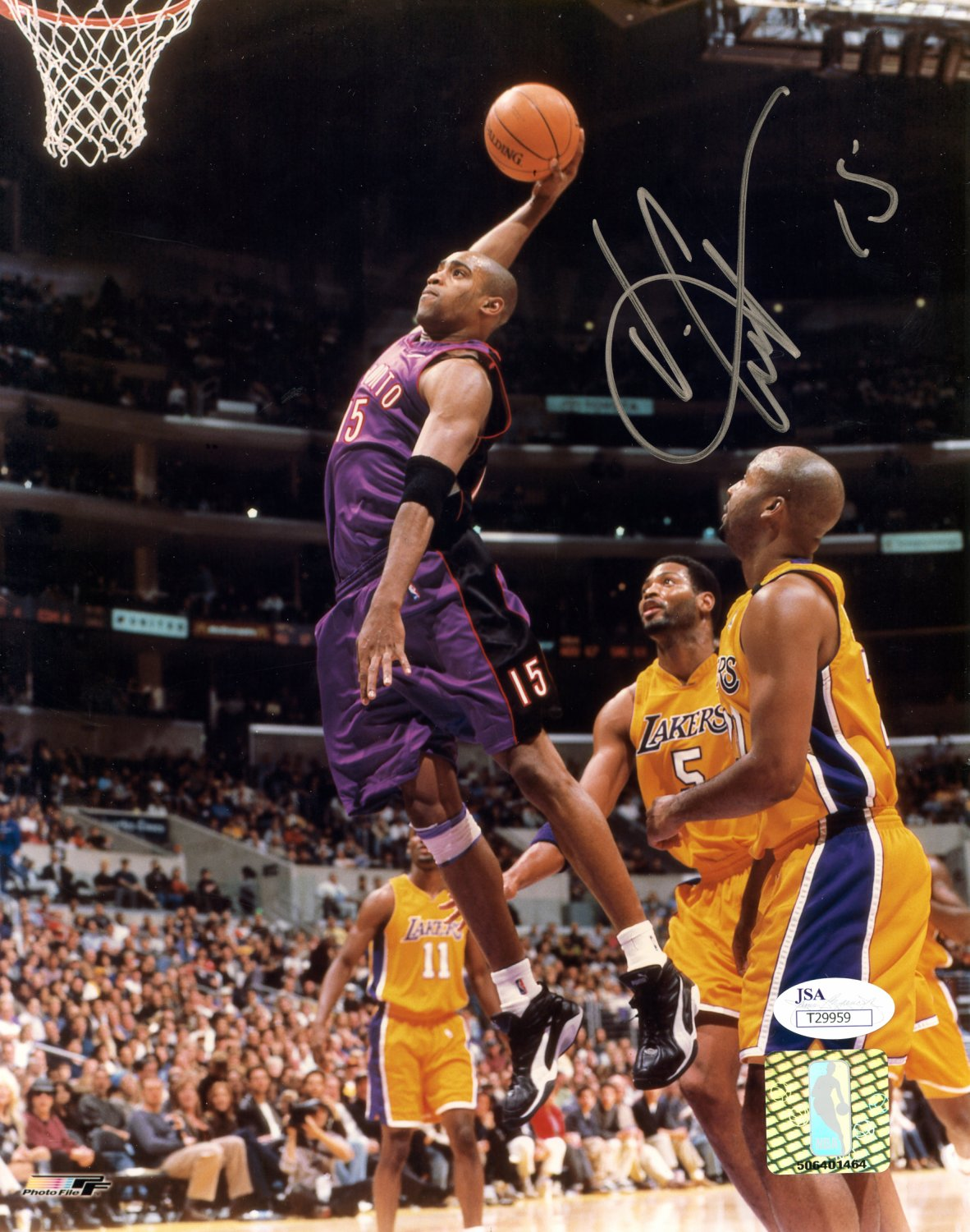 9a20abd77 Vince Carter Toronto Raptors Autographed Signed 8x10 Photo - JSA ...
