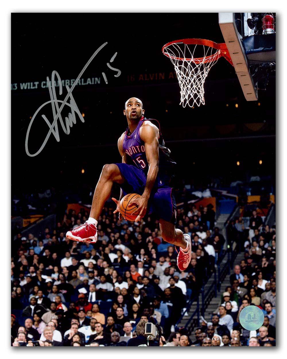 los angeles b8218 e4f6f Vince Carter Toronto Raptors Autographed Signed Slam Dunk ...
