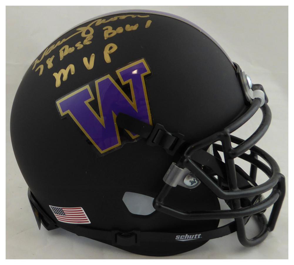size 40 ee091 2b434 Warren Moon Autographed Signed Washington Huskies Matte ...