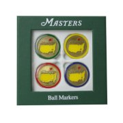 2014 Masters Golf Ball Markers 4-Pack Variety