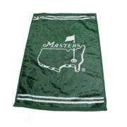 Masters Smooth Finish Golf Towel - Green with White