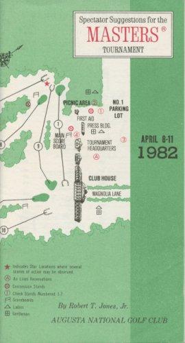 1982 Spectator Guide - Winner Craig Stadler
