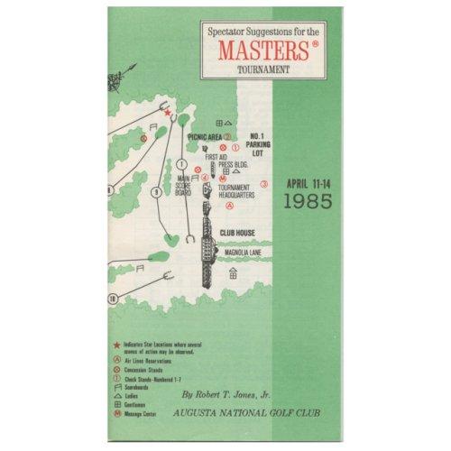 1985 Spectator Guide - Winner Bernhard Langer