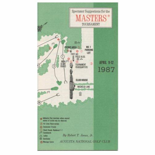 1987 Spectator Guide - Winner Larry Mize