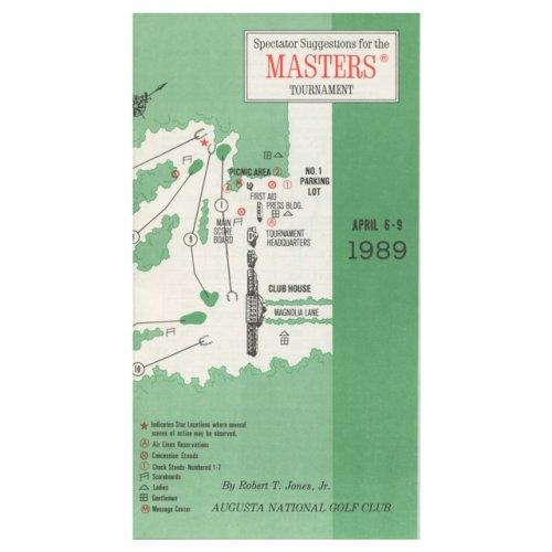 1989 Spectator Guide - Winner Nick Faldo