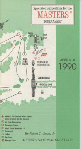 1990 Spectator Guide - Winner Nick Faldo