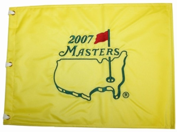 2007 Masters Embroidered Golf Pin Flag- Zach Johnson Champion