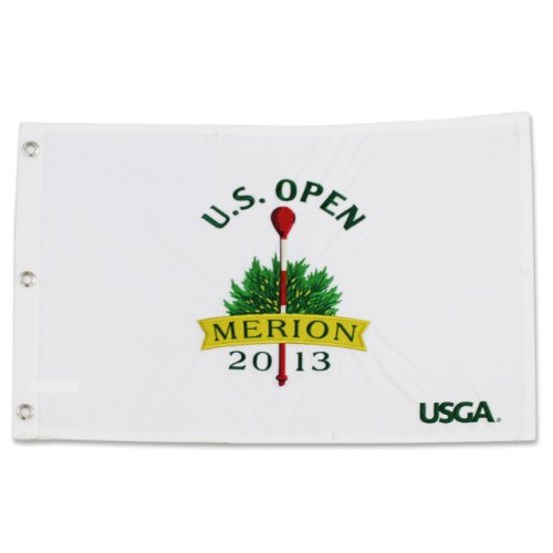 2013 US Open White Merion Embroidered Pin Flag