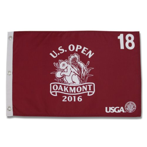 2016 US Open Championship Oakmont Screen Printed Flag - Red