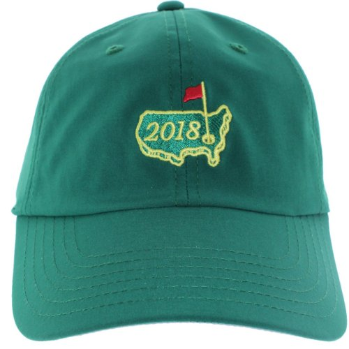 2018 Masters Green Performance Dated Logo Hat