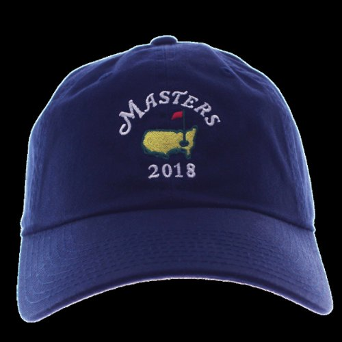 6a36c017648 2018 Masters Small Logo Navy Caddy Hat