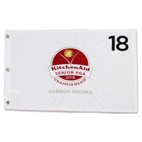 2018 Senior PGA KitchenAid Embroidered Pin Flag - White