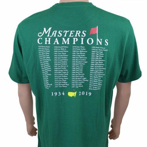 2019 masters champions t shirt green. Black Bedroom Furniture Sets. Home Design Ideas