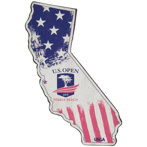 2019 US Open California State Wooden Sign by Signs by the Sea