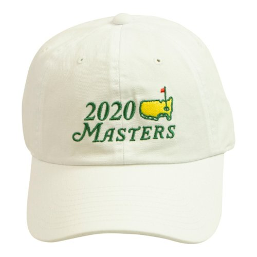2020 Dated Masters White Big Logo Caddy Hat
