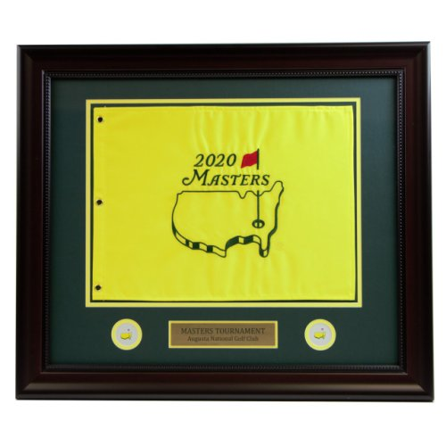 2020 Deluxe Framed Masters Embroidered Pin Flag