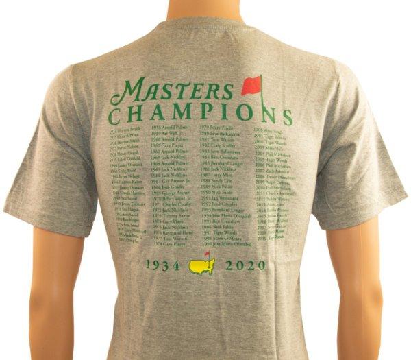 2020 Masters Champions Grey T - Shirt