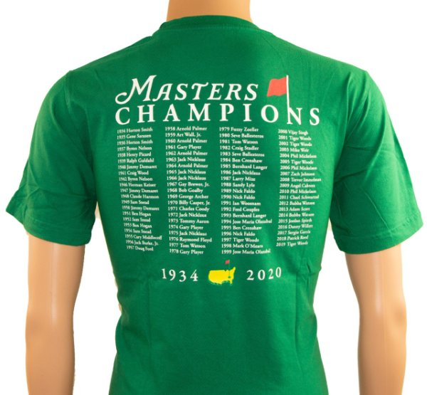 2020 Masters Champions T - Shirt - Green
