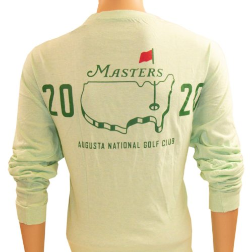 2020 Masters Mint Heathered Green Long Sleeve Logo T-Shirt