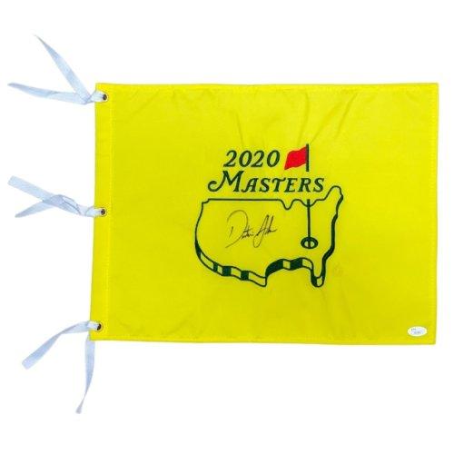2020 Masters Pin Flag Autographed by Winner - Dustin Johnson - JSA Certified
