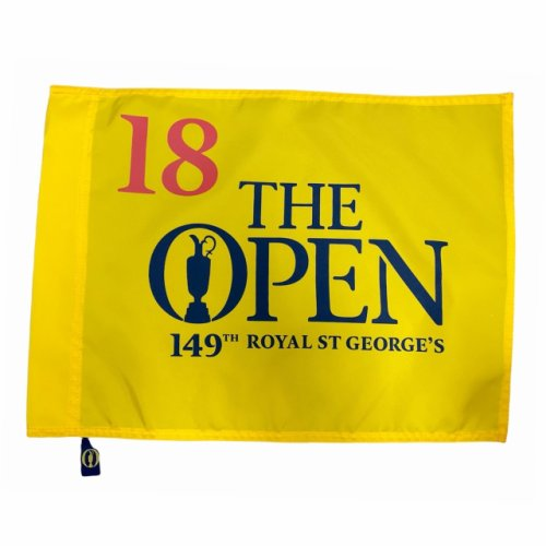 2021 British Open Screen Printed Flag - 149th Open Championship at Royal St. George's Golf Course
