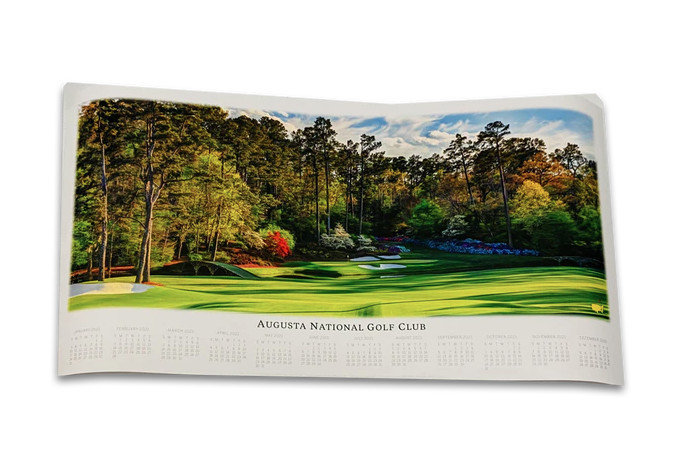 2021 Masters 12th Hole Panorama Calendar
