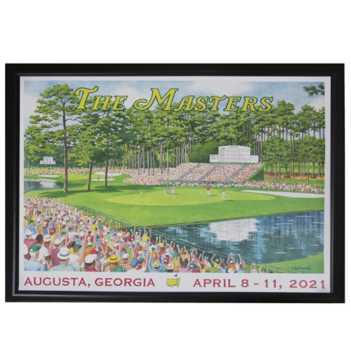 2021 Masters 15th Hole Weekend Framed Poster