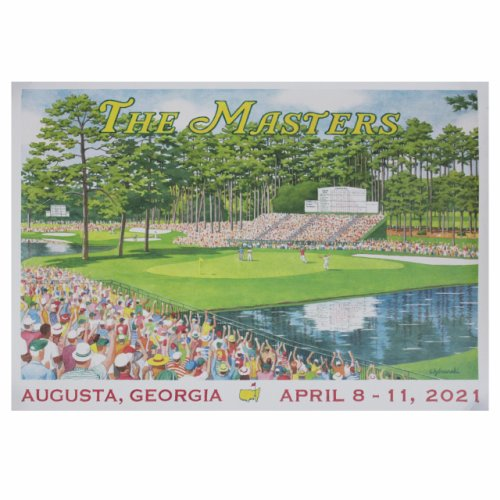 2021 Masters 15th Hole Weekend Poster