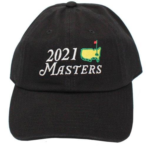 2021 Masters Black Big Logo Caddy Hat