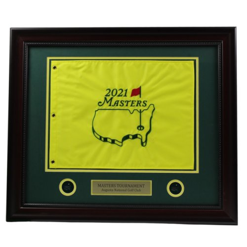 2021 Masters Deluxe Framed Embroidered Pin Flag (pre-order)