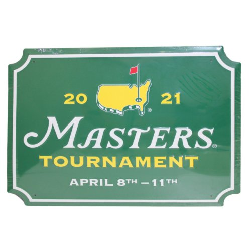 2021 Masters Green Rectangle Metal Sign