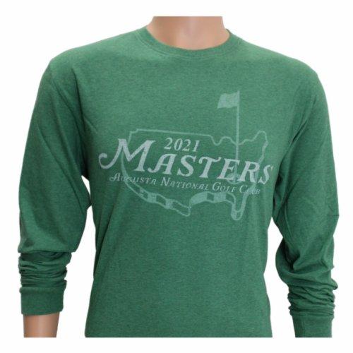 2021 Masters Heathered Green Long Sleeve Logo T-Shirt