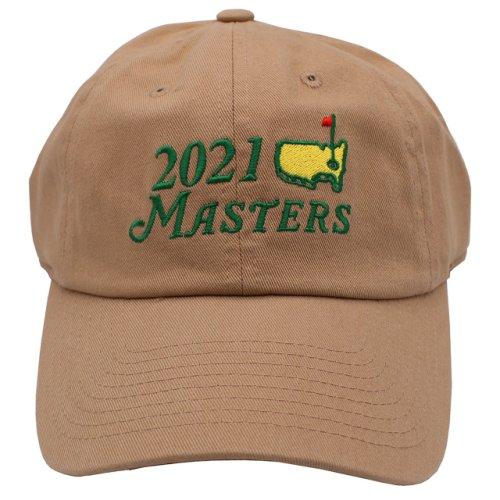 2021 Masters Khaki Big Logo Caddy Hat