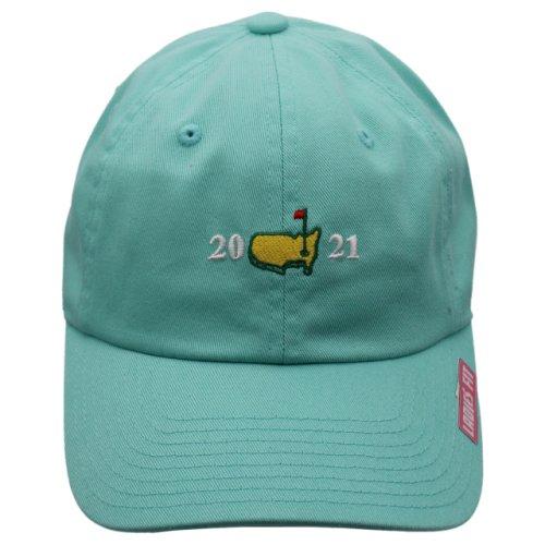 2021 Masters Ladies Aqua Split Logo Hat