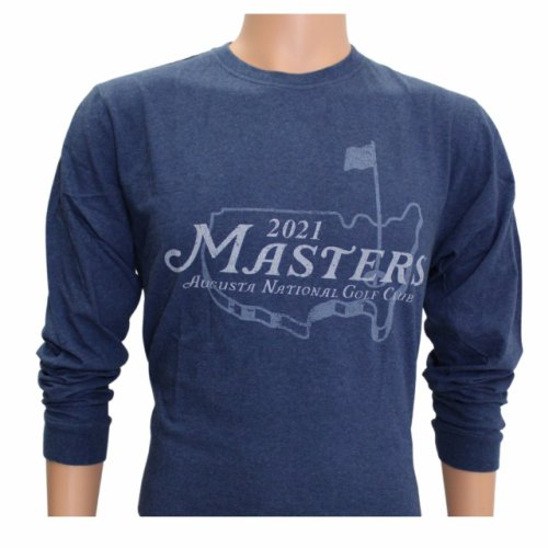2021 Masters Long Sleeve Heather Blue Logo T-Shirt