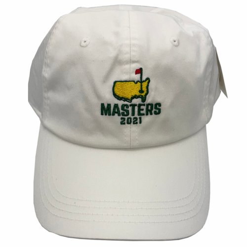2021 Masters Stacked Logo Caddy Hat - White