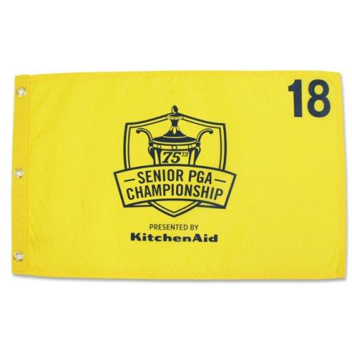 75th Sr. PGA Championship Screen Printed Flag - Yellow