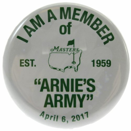 Arnie's Army Pin - Masters 2017 Commemorative Badge / Button Honoring Arnold Palmer April 6, 2017