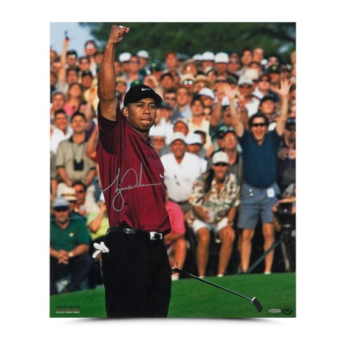Authentic Tiger Woods Autographed 20x24 Photo- 2001 Masters
