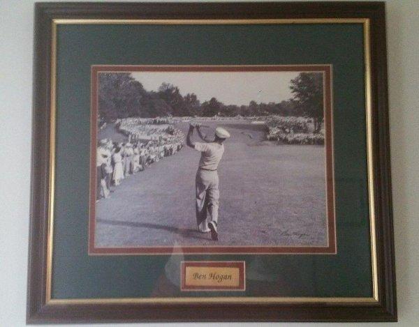 Ben Hogan Classic 1-Iron Shot 1950 Us Open At Merion Framed 18X20 Reproduction