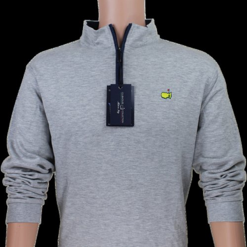 Clubhouse Collection Masters Light Grey 1/4 Zip Performance Cotton Pullover
