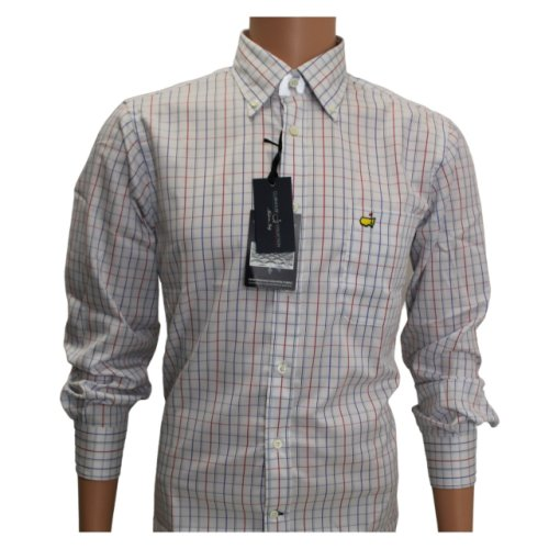 Clubhouse White, Red, and Blue Checkered Dress Shirt